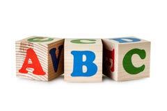 Wooden blocks. Alphabet Royalty Free Stock Images