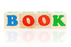 Wooden blocks arranged in the word BOOK Stock Photography