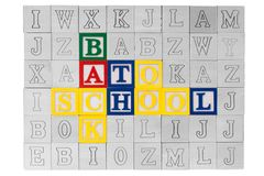 Wooden blocks Back to School Stock Photo