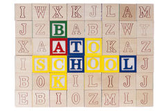 Wooden blocks Back to School Royalty Free Stock Photo