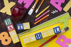 Wooden blocks Back to School Royalty Free Stock Image