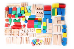 Wooden blocks background Stock Images