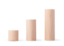 Wooden blocks chart Royalty Free Stock Photo