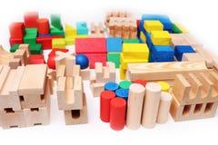 Wooden blocks for children Stock Photo