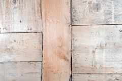 Wooden blocks collage as a vintage background. grain wood texture close-up.  stock photo