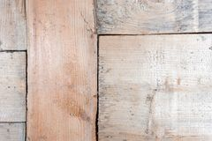 Wooden blocks collage as a vintage background. grain wood texture close-up.  royalty free stock images