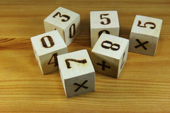 Wooden blocks with digits Royalty Free Stock Photography