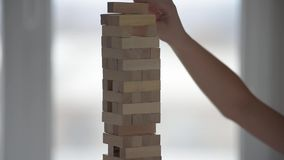 Wooden blocks game stock video
