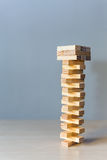 Wooden blocks game Stock Photography