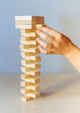 Wooden blocks game Stock Photos
