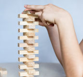 Wooden blocks game Royalty Free Stock Photo