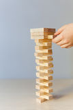 Wooden blocks game Royalty Free Stock Images