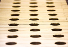 Wooden Blocks with Holes Stock Images