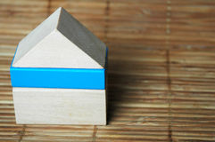 Wooden blocks house Stock Image