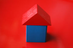 Wooden blocks house Royalty Free Stock Photo