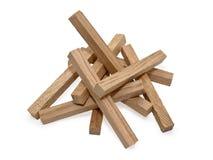Wooden blocks isolated on white background Royalty Free Stock Image