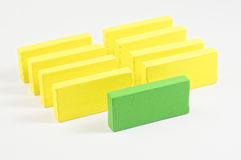 Wooden Blocks - Leadership Concept Royalty Free Stock Image