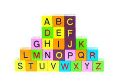 Wooden blocks with letters Royalty Free Stock Image