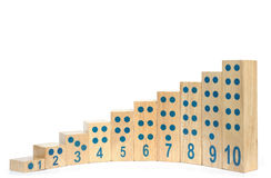 Wooden blocks with number isolated. Stock Image