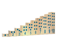 Wooden blocks with number isolated. Stock Photography