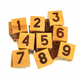 Wooden blocks with numbers Royalty Free Stock Image