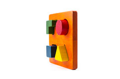 wooden blocks shape sorter toy Royalty Free Stock Photography
