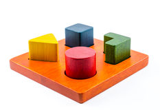 wooden blocks shape sorter toy Royalty Free Stock Images