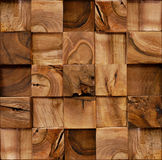 Wooden blocks stacked for seamless background Stock Images