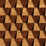 Wooden blocks stacked for seamless background Royalty Free Stock Images