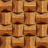 Wooden blocks stacked for seamless background Stock Photography