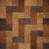 Wooden blocks stacked for seamless background Royalty Free Stock Image