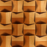 Wooden blocks stacked for seamless background Royalty Free Stock Photos