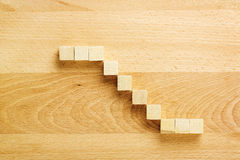 Wooden blocks staircase Stock Photography
