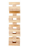 Wooden blocks tower Stock Photo