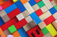 Wooden blocks toy Royalty Free Stock Images
