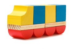 Wooden blocks truck Stock Image