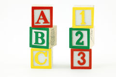 Wooden Blocks upright Royalty Free Stock Image