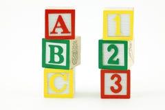 Wooden Blocks upright Royalty Free Stock Image