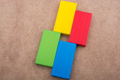 Wooden blocks of various color Stock Images
