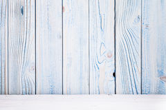 Wooden blue background Stock Photos