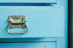 Wooden blue cabinet Stock Images