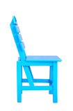 Wooden Blue Chair Stock Image