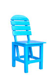 Wooden Blue Chair Royalty Free Stock Images