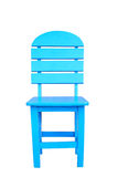 Wooden Blue Chair Stock Images