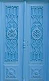 Wooden Blue Door Royalty Free Stock Images