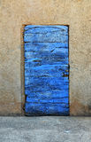 Wooden blue door Royalty Free Stock Images
