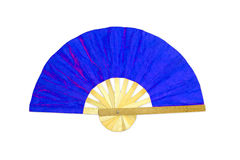 Wooden blue fan Stock Image