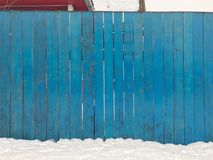 Wooden blue fence. Blue wood texture background coming from natural tree. Wooden panel with beautiful patterns. Space for work stock photography