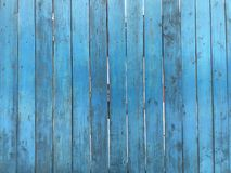 Wooden blue fence. Blue wood texture background coming from natural tree. Wooden panel with beautiful patterns. Space for work stock image