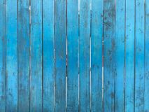 Wooden blue fence. Blue wood texture background coming from natural tree. Wooden panel with beautiful patterns. Space for work royalty free stock photography